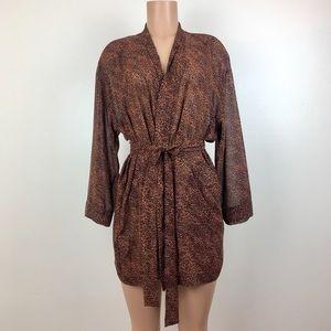 Vintage Victoria's Secret Kimono Robe Animal Print